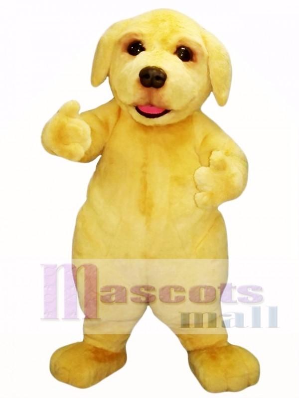 Cute Beige Puppy Dog Mascot Costume
