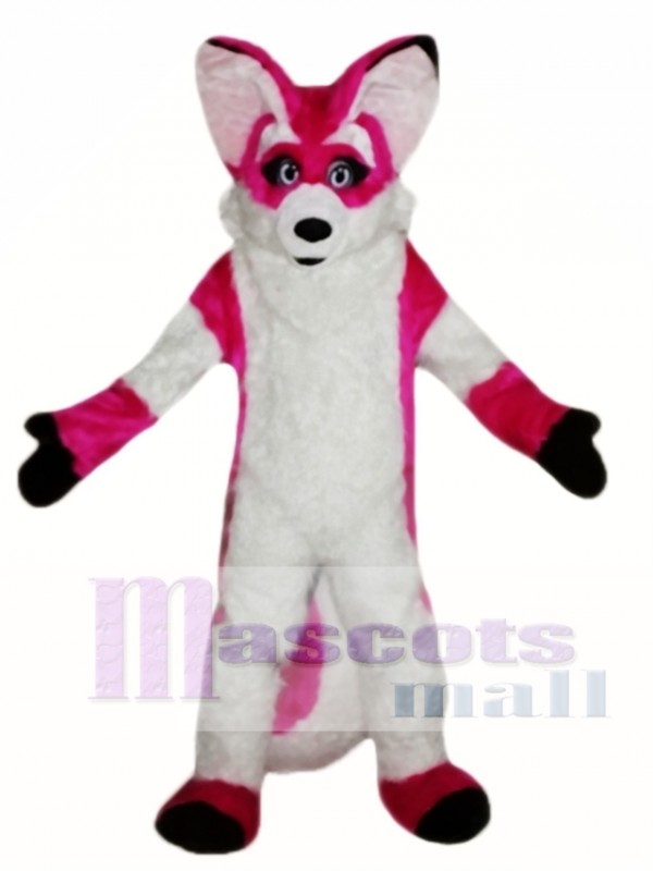 Fursuit Pink Fox Mascot Costume