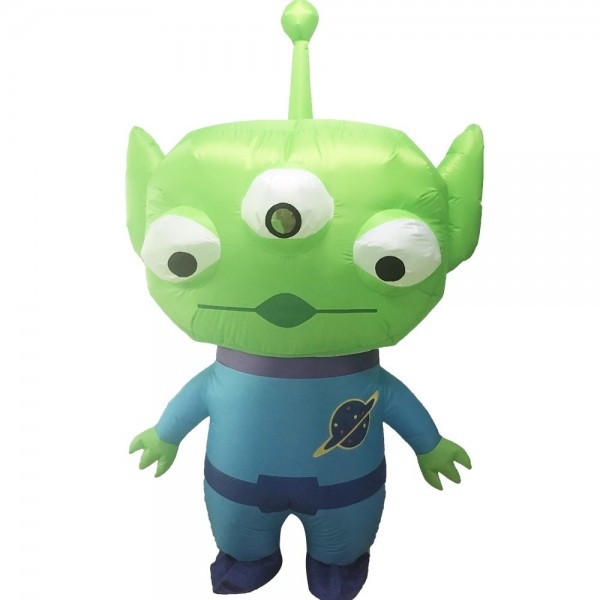 Three-eyed Alien Inflatable Costume Halloween Christmas Costume for Adult