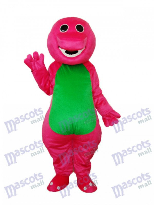 Green Belly Barney Mascot Adult Costume