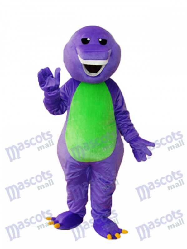 Purple Barney Mascot Adult Costume Cartoon Anime