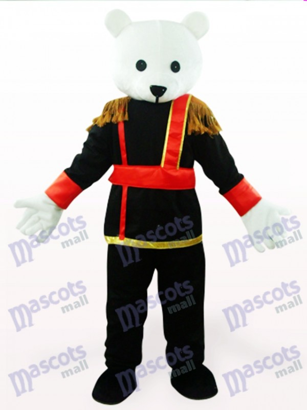 Black And White Male Teddy Bear Anime Mascot Costume