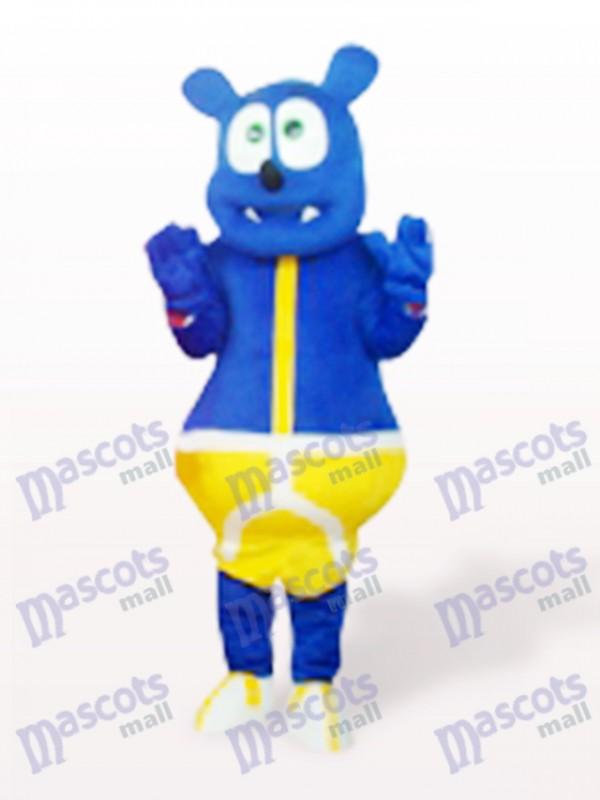 Blue Bear Monster Cute Cartoon Mascot Costume