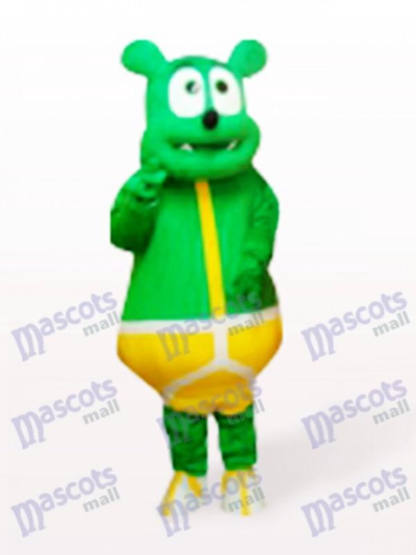 Green Bear Monster Cartoon Mascot Costume
