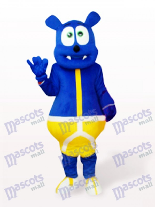 Blue Bear Monster Cartoon  Mascot Costume