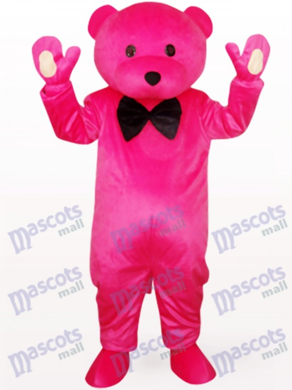 Chef Bear In Rose Clothes Animal Mascot Costume