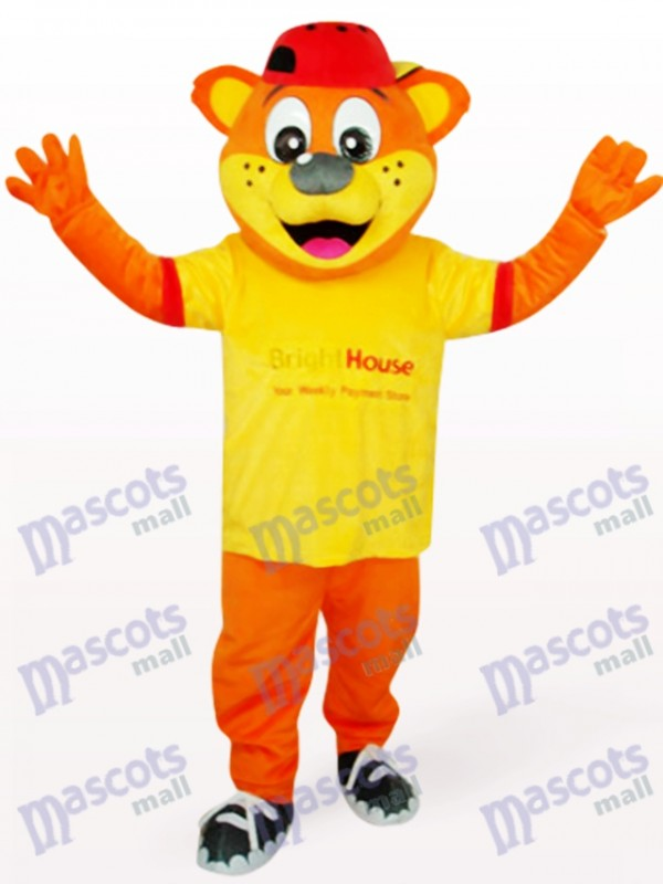 Yellow Male Pipi Bear Animal Mascot Costume