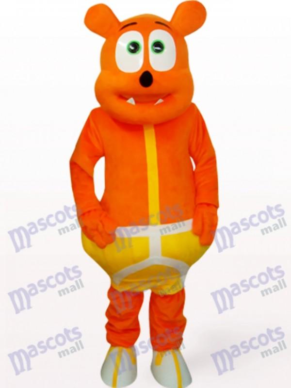 Orange Bear Monster Animal Mascot Costume