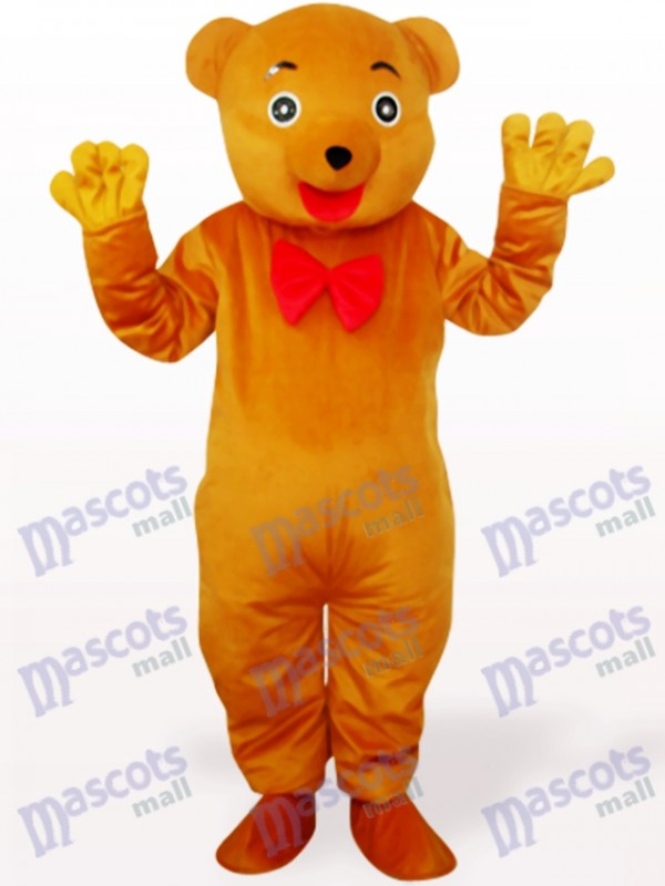 Brownish Yellow Bear Animal Mascot Costume