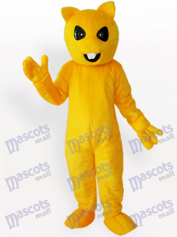 Yellow Bear Animal Mascot Costume