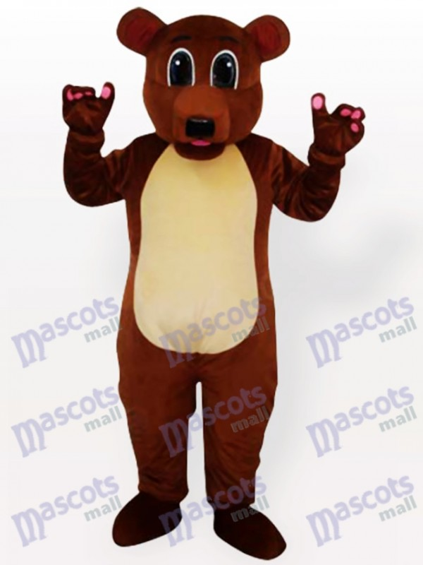 Brown Bear Adult Mascot Costume