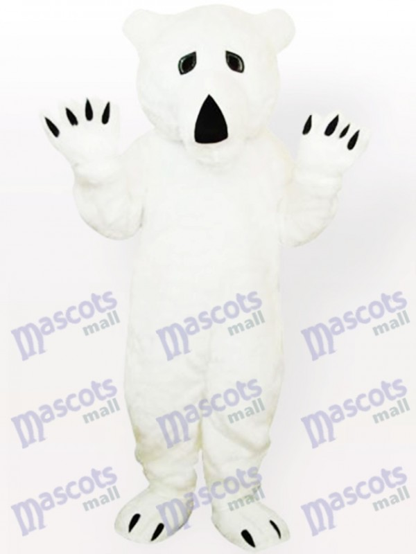 Animal Polar Bear Adult Mascot Costume