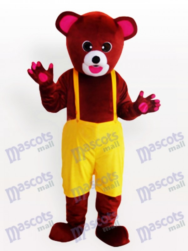Brown Bear in Biboveralls Funny Mascot Costum
