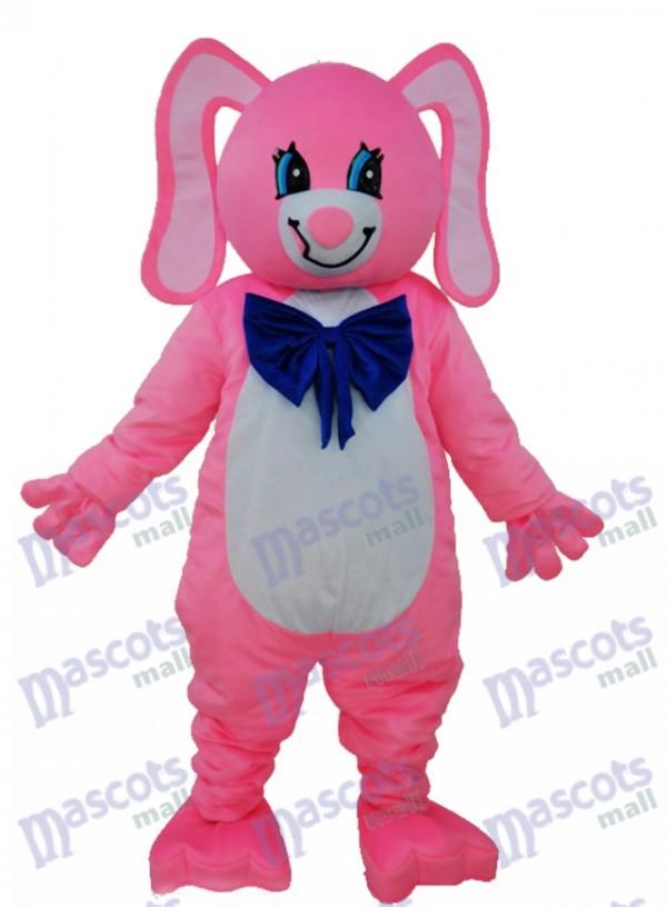 Long Ear Pink Bear Mascot Adult Costume