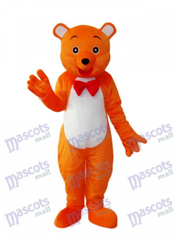 Orange Bear Mascot Adult Costume