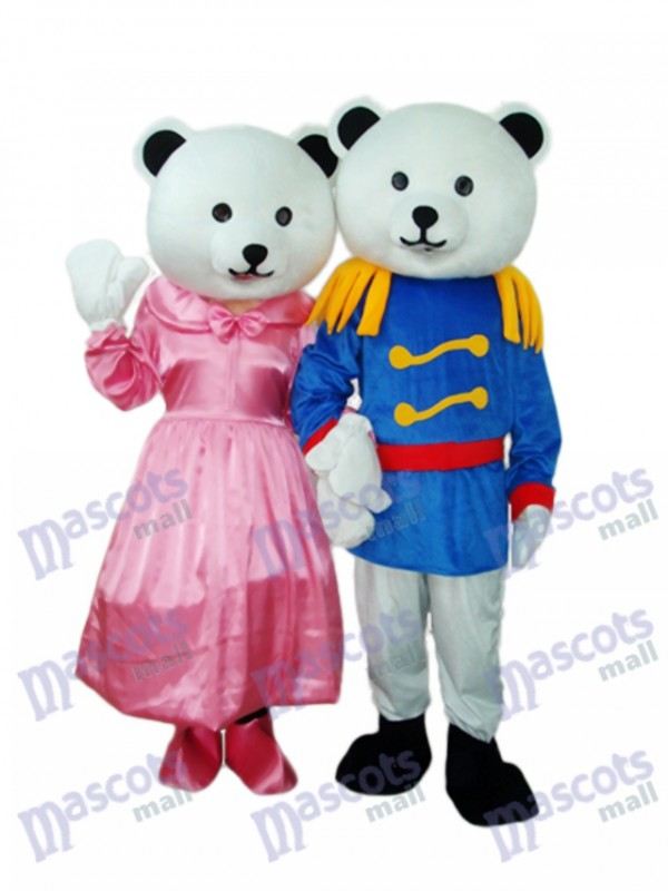 General Bear Couple Mascot Adult Costume