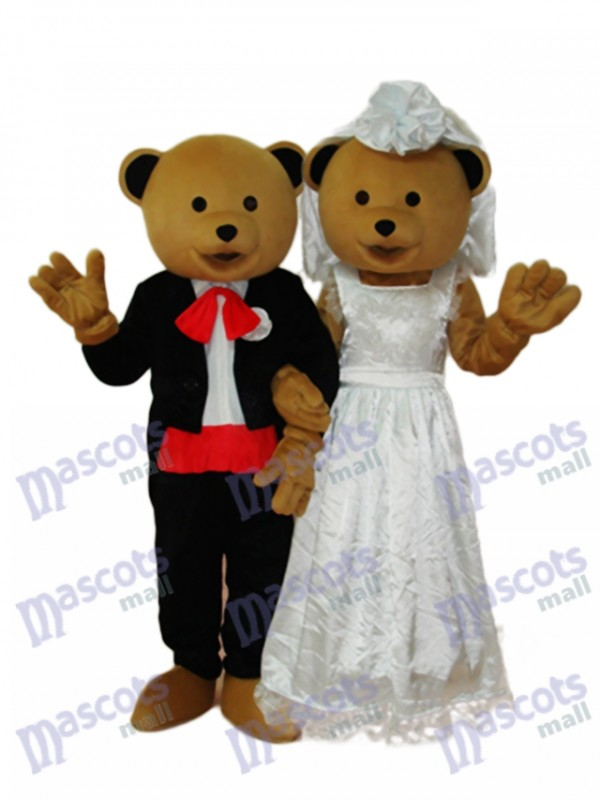 Wedding Bears Couple Mascot Adult Costume