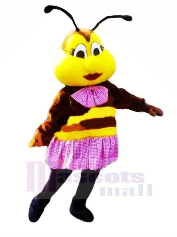 Beautiful Bee with Purple Skirt Mascot Costumes Animal