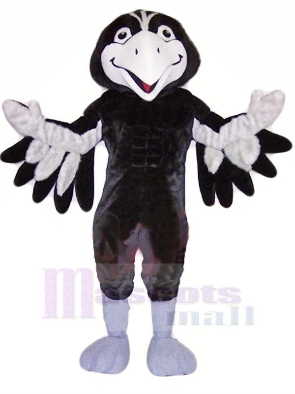 Black and Grey Hawk Mascot Costumes Animal