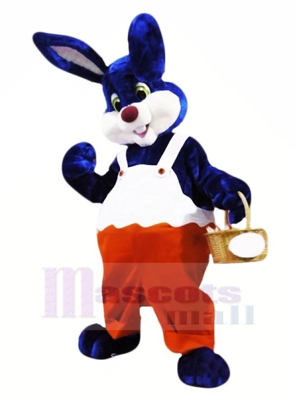 Blue and White Rabbit Mascot Costumes Animal