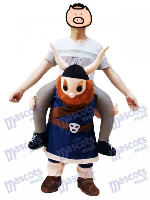 Piggyback Viking Carry Me Ride on Vikings Mascot Costume Saxon Medieval
