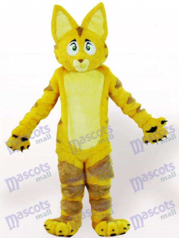 Yellow Cat Animal Adult Mascot Costume