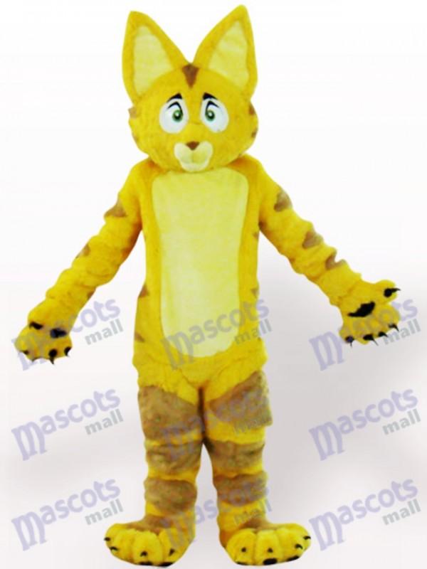 Yellow Cat Animal Adult Mascot Costume