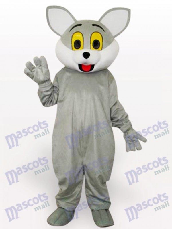 Gray Cat Animal Adult Mascot Costume