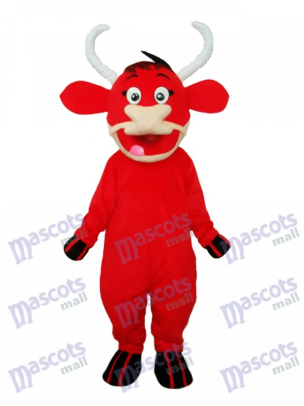 Little Red Cow Mascot Adult Costume