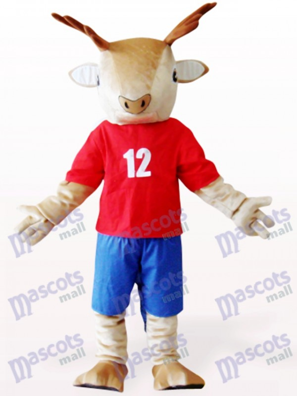 Brown Deer In Red Clothes Animal Mascot Costume