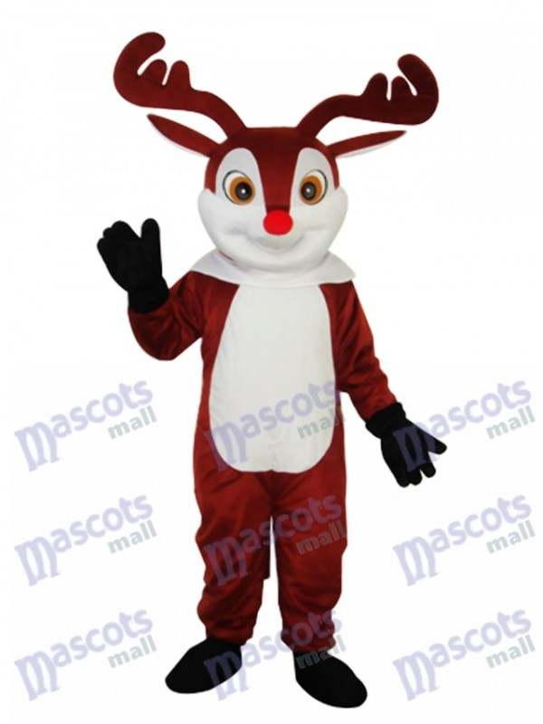 Little Brown Sika Deer Mascot Adult Costume