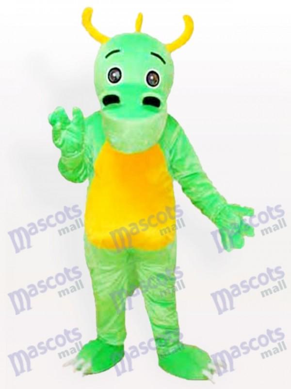 Big Nose Horned Green Dinosaur Mascot Adult Costume