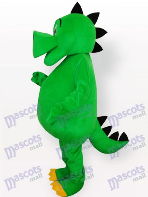 Green Dinosaur Adult Mascot Costume