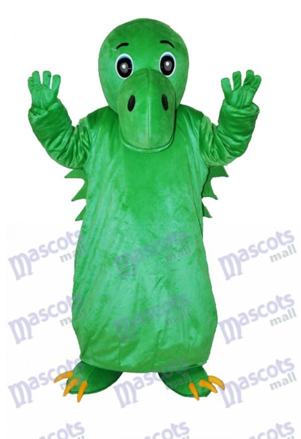 Green Chinese Dinosaur Adult Mascot Costume