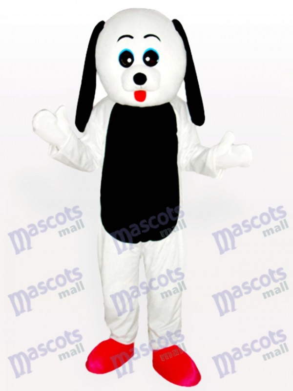 Black Belly Dog Adult Mascot Costume