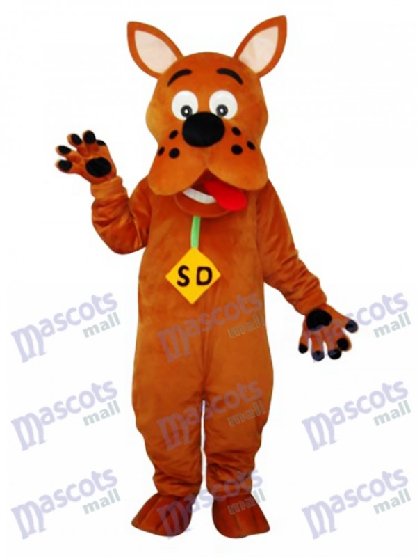 Golden Scooby-Doo Dog Mascot Adult Costume