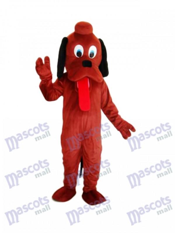 Brown Pluto Dog Mascot Adult Costume