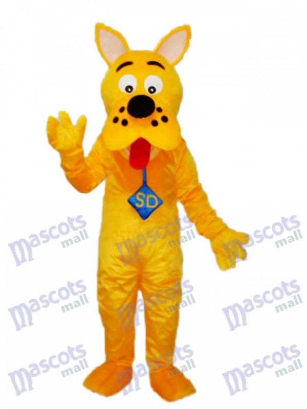 Yellow Scooby-Doo Dog Mascot Adult Costume
