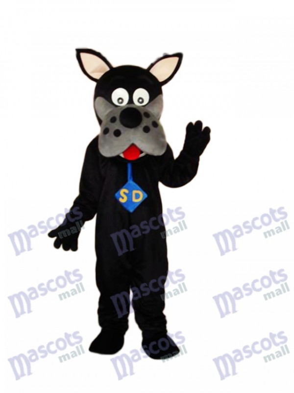 Black Scooby-Doo Dog Mascot Adult Costume