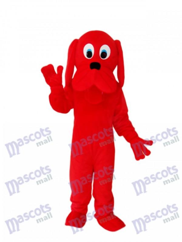 Red Dog Mascot Adult Costume