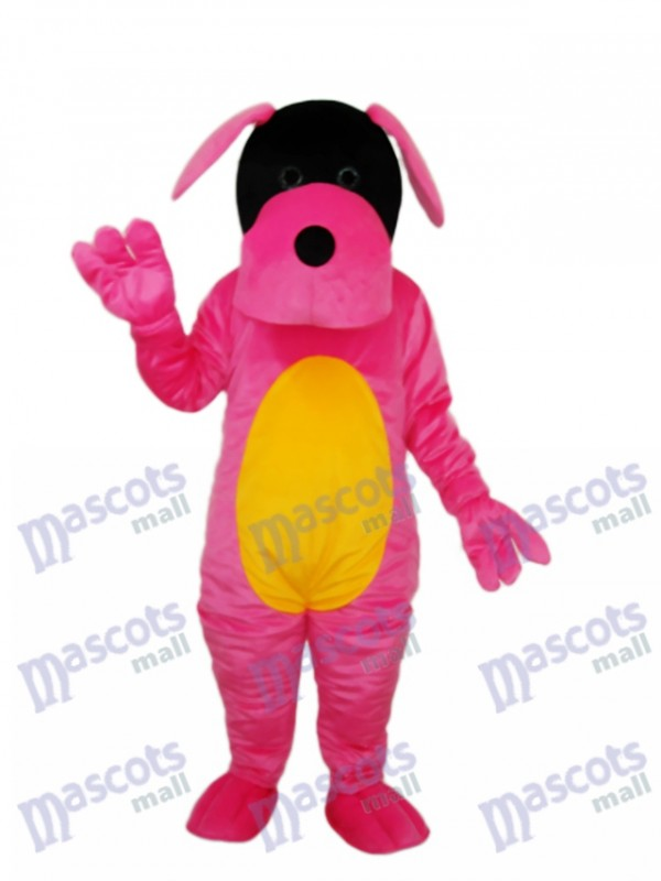 Pink Dog Mascot Adult Costume