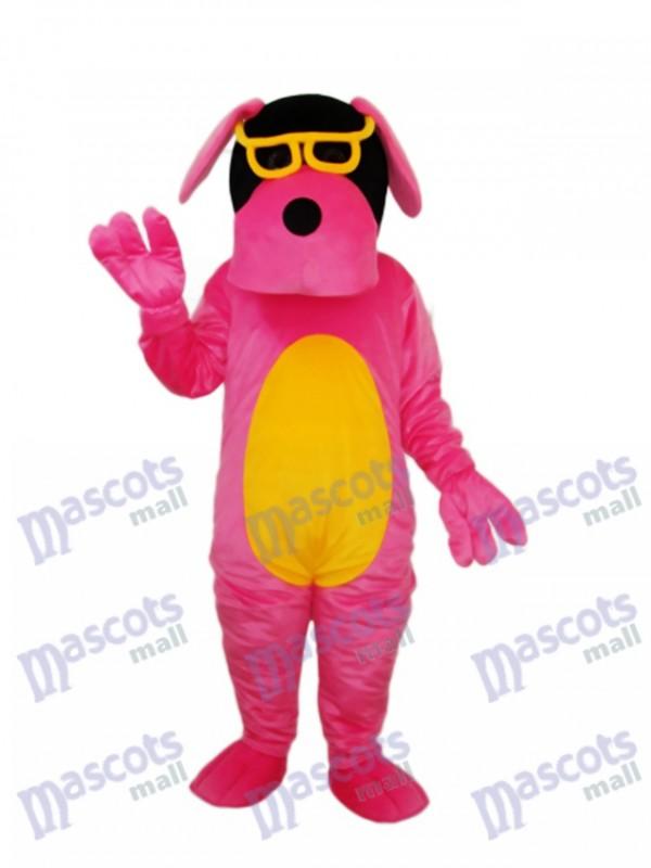 Glasses Dog Mascot Adult Costume