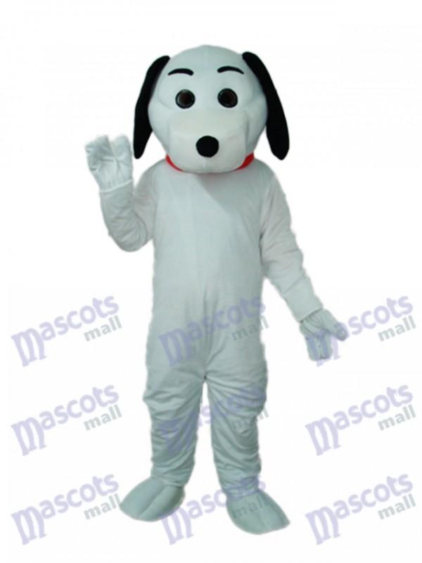 Little White Dog Mascot Adult Costume