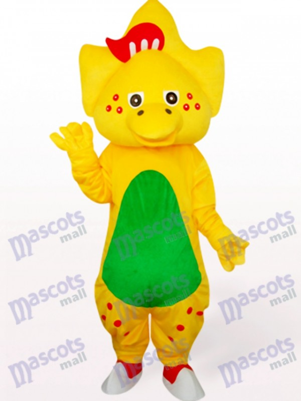 Star Dragon In Yellow Animal Mascot Costume