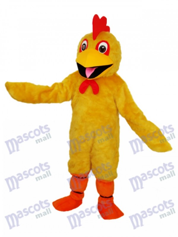 Yellow Chicken Mascot Adult Costume