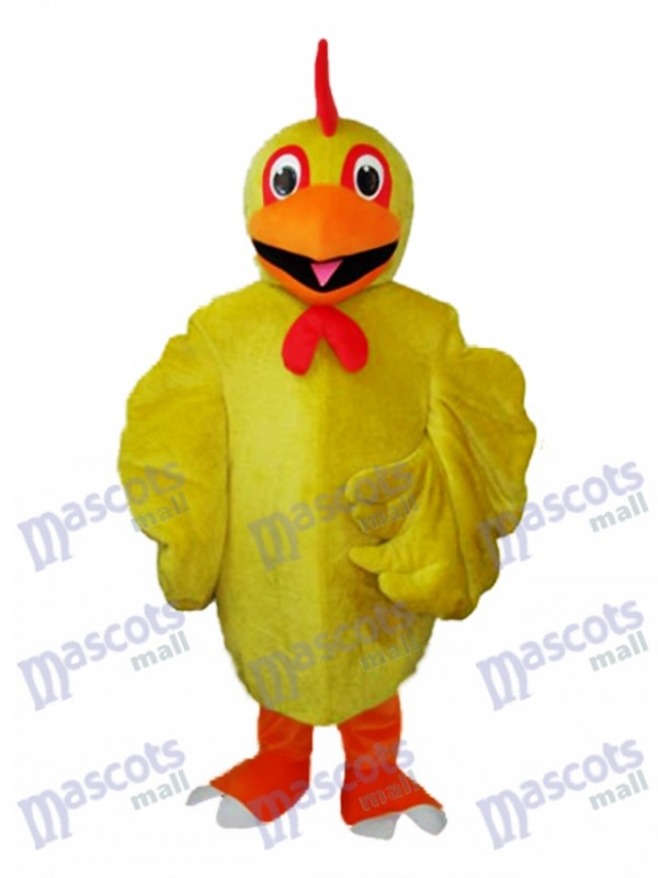 Yellow Chicken Adult Mascot Costume