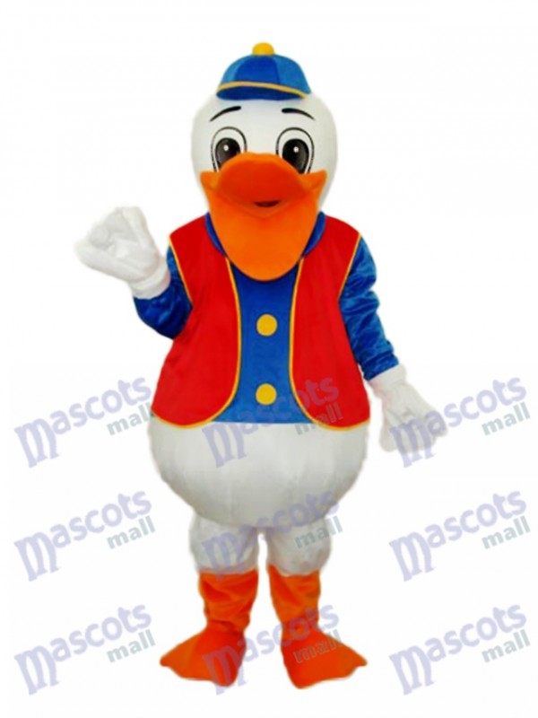 Hippie Duck Mascot Adult Costume
