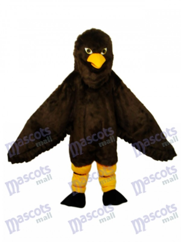Long-haired Brown Eagle Mascot Adult Costume