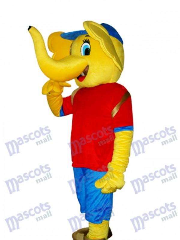 Yellow Elephant Mascot Adult Costume