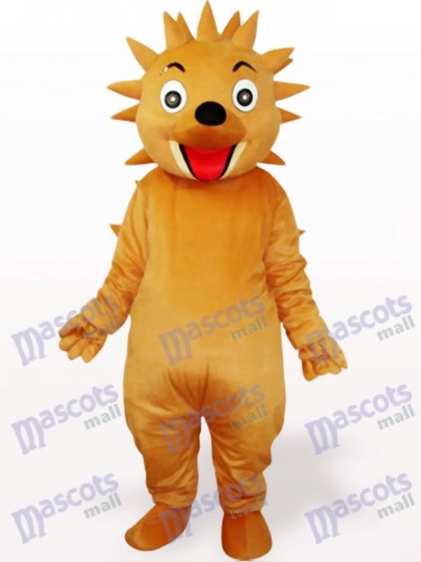 Brownish Yellow Hedgehog Adult Mascot Costume